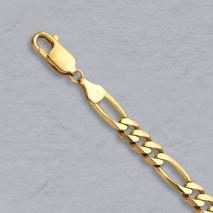 18-Inch 14K Yellow Gold Figaro Chain 5.3mm