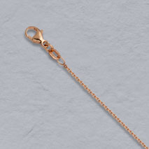 14K Rose Gold Round Cable 1.3mm Chain