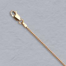18-Inch 14K Rose Gold Franco 1.1mm Chain