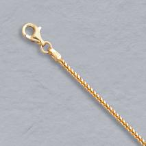 14K Yellow Gold Natural Franco 1.5mm