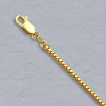 14K Yellow Gold Franco 2.0mm Chain