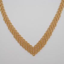 14K Yellow Gold Italian Mesh Necklace