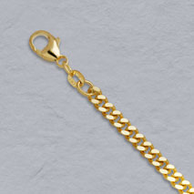 14K Yellow Gold Curb Chain 3.7mm
