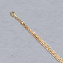 14K Yellow Gold Natural Curb 6 Strand Chain