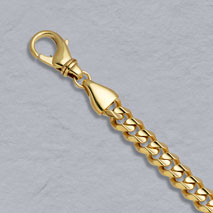 14K Yellow Gold Rounded Curb 7.1mm