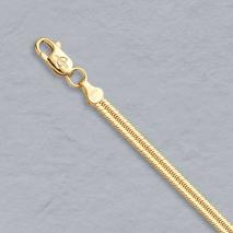 14K Yellow Gold Flat Magic Snake Chain 2.8mm