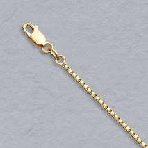 14K Yellow Gold Octava Anklet Chain 1.4mm