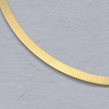 14K Yellow Gold Flat Omega Chain 6.0mm
