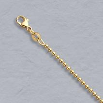 14K Yellow Gold Bead Chain 2.0mm