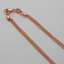 14K Rose Gold Cable 025 3 Strand Chain