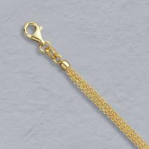 14K Yellow Gold Cable Chain, 3 Strand