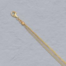 14K Yellow / White Gold Cable Chain 6 Strand (3 yellow / 3 white)