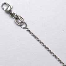 14K White Gold Open Light Cable 1.0mm