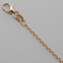 14K Natural Yellow Gold Open Cable Chain 1.5mm