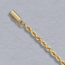 14K Yellow Gold Solid Rope 4.0mm, Lobster Clasp