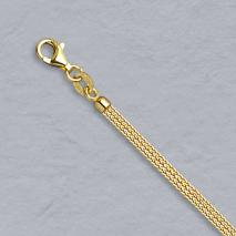 14K Yellow Gold Diamond Cut Wheat, 3 Strand