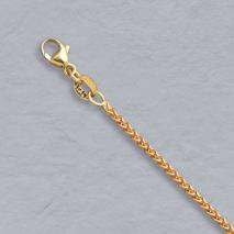 14K Yellow Gold Natural Round Wheat 1.5mm