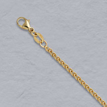 14K Yellow Gold Natural Round Wheat 2.0mm Chain