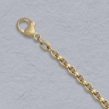 18K Yellow Gold Flat Belcher 3.6mm, Satin Chain