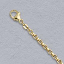 18K Yellow Gold Flat Belcher 3.6mm Chain