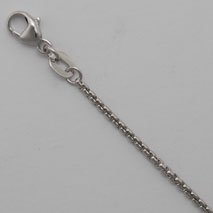 18K White Gold Round Box 1.6mm Chain