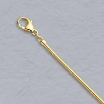 18K Yellow Gold Boa Snake Chain 1.9mm