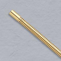 18K Yellow Gold Round Snake Chain 4.1mm, Bayonet Clasp