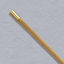 18K Yellow Gold Foxtailmesh 3.1mm Chain, Bayonet Clasp