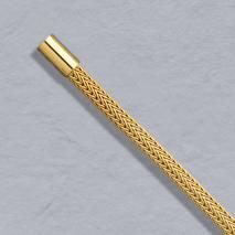 18K Yellow Gold Foxtailmesh 3.6mm Chain, Bayonet Clasp