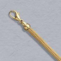18K Yellow Gold Foxtailmesh 3.6mm Chain, Lobster Clasp