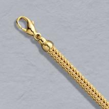 18K Yellow Gold Foxtailmesh 4.2mm Chain, Lobster Clasp