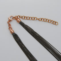 18K Rose Gold Black Rhodium Chain 10 Strand
