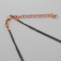 18K Rose Gold Black Rhodium Chain 3 Strand