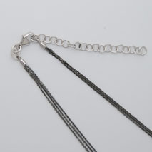 18K White Gold Black Rhodium Chain 3 Strand