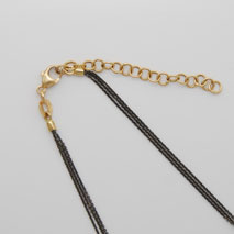 18K Yellow Gold Black Rhodium Chain 3 Strand