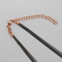 18K Rose Gold Black Rhodium Chain 5 Strand