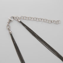 18K White Gold Black Rhodium Chain 5 Strand
