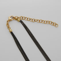 18K Yellow Gold Black Rhodium Chain 5 Strand