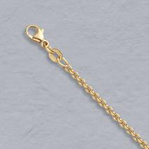 18K Yellow Gold Round Cable 2.2mm Chain