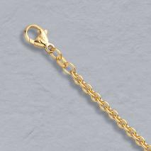 18K Yellow Gold Round Cable 3.0mm Chain