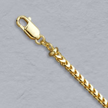 18K Yellow Gold Franco 3.0mm Chain