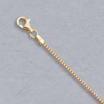18K Yellow Gold Franco 1.1mm Chain