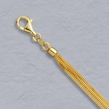 18K Yellow Gold Curb Chain 6 Strand