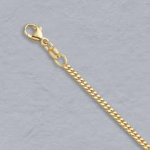 18K Yellow Gold Curb 2.2mm Chain
