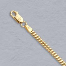18K Yellow Gold Curb 3.0mm Chain