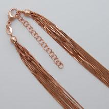 18K Rose Gold Octava 10 Strand, 2' Extender Chain