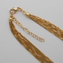 18K Yellow Gold Octava 058 10 Strand, 2' Extender Clasp