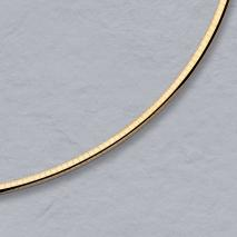 18K Yellow Gold Domed Omega 3.0mm Chain