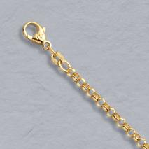 18K Yellow Gold Rolo Chain 3.0mm