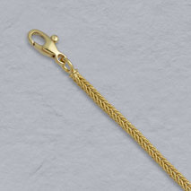 18K Yellow Gold Handmade Textured Foxtail Chain 2.3mm